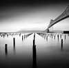 Furrows No.2 (C A Soukup) Tags: hybridtheory astoria oregon mediumformat 6x6 hasselblad astoriabridge longexposure film 120