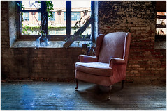 Chair and window (ronnymariano) Tags: chair urbex abandoned building window colors pink abandonedamerica color architecture exploration 2016 abandonedplaces decay scrantonlace scranton pennsylvania unitedstates us