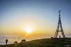 Gorbeiako kurutzean (Jabi Artaraz) Tags: jabiartaraz jartaraz zb euskoflickr gorbea kurutzea montaña niebla bruma fotógrafo cruz nature