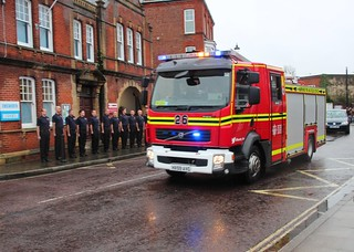 Funeral of Firefighter Gary Buchanan, Emsworth, Hampshire - 11.12.17