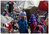 Essaouira Fish Market Shoppers - Morocco (TravelsWithDan) Tags: candid fromabove people outdoors city urban streetphotography culture essaouira morocco fishmarket scarves headcovering child women canong16