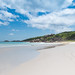 Sandstrand auf der Insel La Digue, Seychellen