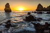 Sunrise Algarve, Portugal (SaschaHaaseFotografie) Tags: algarve portugal sunrise moonlight sascha haase tbiggums landscape landschaft sony canon wasser himmel felsen meer ozean kliff bucht