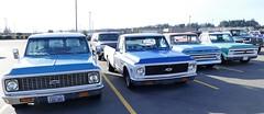 Chevrolet C10's (bballchico) Tags: chevrolet c10 pickuptruck suburban newyearscoolcarcruise carshow
