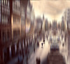 Where The Streets Have No Name.. (Philip R Jones) Tags: slider sliders hss sliderssunday icm motionblur abstract isolation alone shopping shopper art coppertones chester cheshire