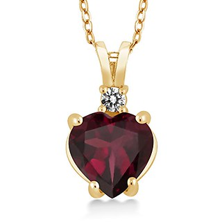 Heart Shape Garnet Necklace
