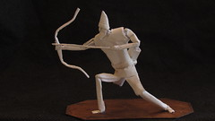 Saxon Archer (Marcos Origami) Tags: origami papiroflexia warrior army handmade medieval saxon archer norse te