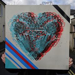 The Third Dimension (id-iom) Tags: 3d aerosolpaint art arts black blue brixton canvas cool crown england heart idiom london paint red spray spraypaint stencil street streetart stripes uk urban vandalism