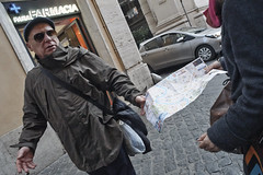I don't know, you're reading the map!! (Baz 120) Tags: candid candidstreet candidportrait city candidface candidphotography contrast colour street streetphoto streetcandid streetphotography streetportrait sony a7 fullframe rome roma romepeople romestreets europe women urban life primelens portrait people italy italia grittystreetphotography faces decisivemoment strangers