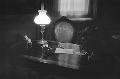 The unfinished letter/ De onafgemaakte brief (cluffie598) Tags: writing desk herengracht amsterdam grachtenpand willetholthuysen highiso filmgrain canonae1 canonfd 50mm f14 ilford ilforddelta3200 inkpen