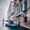 Haus mit Boot (One_Penny) Tags: italy photography venedig venezia venice house boat river canal italia sky clouds windows architecture building longexposure longshutterspeed waterfront riverside water square squarecrop squareformat tones colors smooth blur stones texture ndfilter