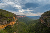 Canyon of the Blue Mountains (Nikhil Ramnarine) Tags: australia sydney bluemountains canyon forest mountain clouds moodyclouds midday queenvictorialookout lookout vista stunningvista summer