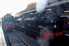 BURY 261008 71000, 1300 & 47324 (SIMON A W BEESTON) Tags: elr eastlancashirerailway bury dukeofgloucester 71000 1300 47324
