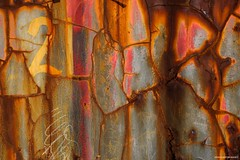Port Errol Abstract #1 (john&mairi) Tags: steel container port errol cruden bay harbour new years day 2018 rust abstract texture 21