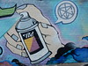 Spray Can With Own Tag (mikecogh) Tags: prospect mural streetart publicart tool meta spraycan tag hand symbol mystery