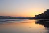 Winter Sunrise (planosdeluz) Tags: gijón invierno amanecer playa san lorenzo reflection sunrise beach silhouettes