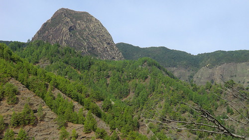 La Gomera (Spain's Canary Islands) -  Roque Agando in Parque Nacional de Garajonay (1.250m)