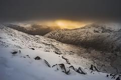 Watkins Path (aevo69) Tags: snowdon snowdonia sunset sun snow golden light moody clouds walking epic route explore adventure andy evans andyevanscreations