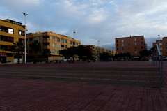 Spain Tenerife / El Medano 7:30 (h_j.sauermann2021) Tags: 2017 20171211spainteneriffa spain tenerife teneriffa sun holiday landscape light colours bright town elmedano morningsky sunrise