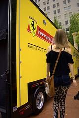 Ferrari (swong95765) Tags: ferrari trailer woman female lady sexy stockings