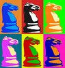 Chess WHL (Michael.Schiefer) Tags: chess knight horse popart warhol andywarhol