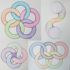 collage2017253 (regolo54) Tags: torus torso handmade mathart regolo54 pentagon circle disk touche rainbow