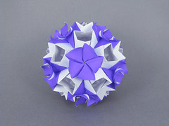Petunia (masha_losk) Tags: kusudama кусудама origamiwork origamiart foliage origami paper paperfolding modularorigami unitorigami модульноеоригами оригами бумага folded symmetry design handmade art