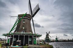 Windmills in Zaanse Schans, Holland (George Pachantouris) Tags: zaanse schans netherlands holland windmill windmills dutch zaandam zaanstad