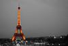 Eiffel Tower (PixelSky Photo (Mel M.)) Tags: eiffeltower tower eiffel paris france parisfrance landscape selectivecolors blackandwhite somecolored europe touristattraction skyscraper touristdestination