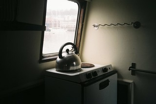 Inside a narrowboat