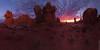 Firestorm (Jake Rogers Photo) Tags: moab utah arches archesnationalpark sunset twilight pano panorama gardenofeden nationalparks desert clouds