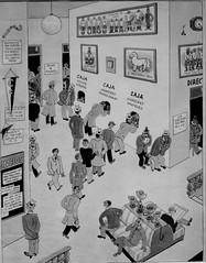 GARRIDO Y EL FUTBOL (Dedicada) (PCampayo) Tags: 2018 madrid museo museodehistoriademadrid comic monocromo