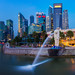 Merlion and Singapore city