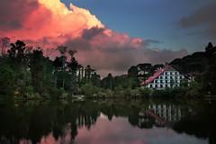 Lago Negro (Saan Martins) Tags: lagonegro gramado brasil rs br natureza lake nature sunset lago pordosol sky céu travel trip nuvens clouds candyclouds reflection