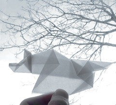Loup d'hiver (lucienderainne) Tags: origami wolf pliage loup