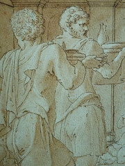 PRIMATICE - Le Banquet d'Alexandre (drawing, dessin, disegno-Louvre INV8569) - Detail 137 (L'art au présent) Tags: dessins disegni drawings people art details détail détails detalles italiandrawings dessinitalien italianpainters peintresitaliens renaissance dessins16e 16thcenturydrawings 16thcentury croquis étude study sketch sketches wash lavis museum france italie italy bollogne francescoprimaticcio leprimatice primaticcio myth mythe mythologie mythology soldier soldiers soldat man men repas meal lunch woman women festin food servant serveur domestique alexander table portraits portrait statue statues