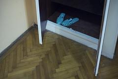 bleu ciel (the tin drummer) Tags: bleu ciel slippers interior minimal old house