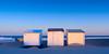 Bleriot plage - Calais (cbreadwine) Tags: beach hut cabines de plage calais bleriot hiver winter sunset cold