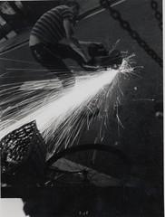 Welder (djdpix) Tags: circusirritant undergroundart welding sculpture
