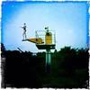 Holidays In Dystopia (boriszeuge) Tags: dystonie berlin flughafen tempelhof jump swimsuit blue green dystopia