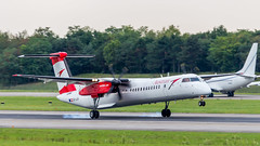 De Havilland Canada DHC-8-402Q OE-LGN Austrian Airlines (William Musculus) Tags: oelgn austrian airlines de havilland canada dhc8402q dash 8 bombardier q400 airport spotting basel mulhouse freiburg euroairport eap bsl mlh lfsb