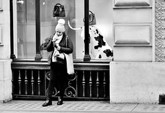 Here Boy, Fetch ! ! ! (jaykay72.) Tags: london uk street candid streetphotography cornhill stphotographia blackandwhite bw