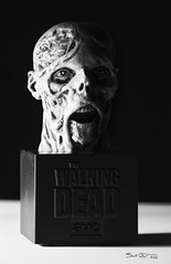 The Walking Dead (scottnj) Tags: 365the2018edition 3652018 day18365 18jan18 scottnj scottodonnellphotography zombie zombies zombiephoto toy bust zombiebust zombiestatue monochrome bw blackandwhite blackwhite thewalkingdead 18365 365project