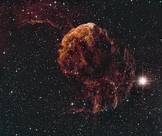 IC 443 Jellyfish Nebula (in false colour)