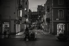 City nights..... (Dafydd Penguin) Tags: barceloneta barcelona catalunya catalonia spain street scene raw candid night shot after dark people blackandwhite blackwhite black white bw monochrome mono leica m10 summicron 35mm f2 asph
