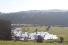 Flooding (daveandlyn1) Tags: meadow water swollenriver riversevern buildwas ironbridge trees sheep fields iii f3556 efs1855mm 1200d canon flooding