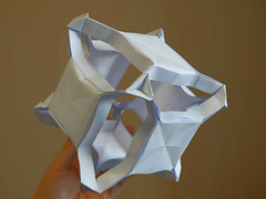 Suspended squares (ISO_rigami) Tags: sid modular origami 3d a4 cube polyhedron eckhardhennig
