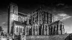 Le Mans Cathedral 2018 (EBoss Fotografie) Tags: lemans france roman gothic loire church dark blackwhite sky clouds building canon cathedral