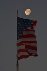 Moon & Flag......Explored (l_dewitt) Tags: usflad moon flagandmoon