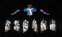 Ingoldisthorpe (badger_beard) Tags: ingoldisthorpe church st saint michael all angels stained glass norfolk children angel reading bedtime rainbow